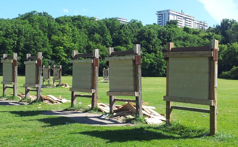 Small Backyard Archery Range : to 19 yards making 20 yards the minimum safe distance