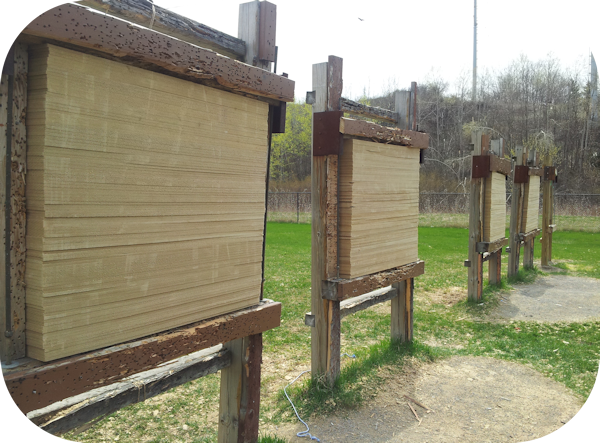 Toronto Archery Range Target Butts Repaired
